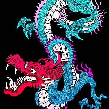 Neon Chinese Dragon by Demonaru