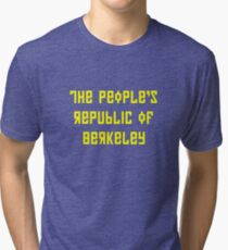 The People's Republic of Berkeley (yellow letters) Tri-blend T-Shirt