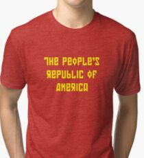 The People's Republic of America (yellow letters) Tri-blend T-Shirt