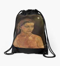My First Wife's portrait Drawstring Bag