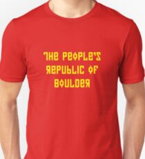 The People's Republic of Boulder (yellow letters) T-Shirt