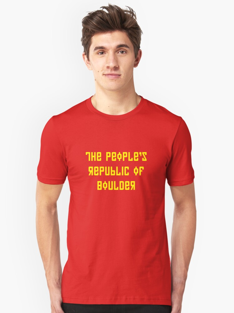 The People's Republic of Boulder (yellow letters) by diculousdesigns