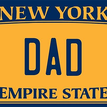 Dad License Plate - New York by 1MNL1