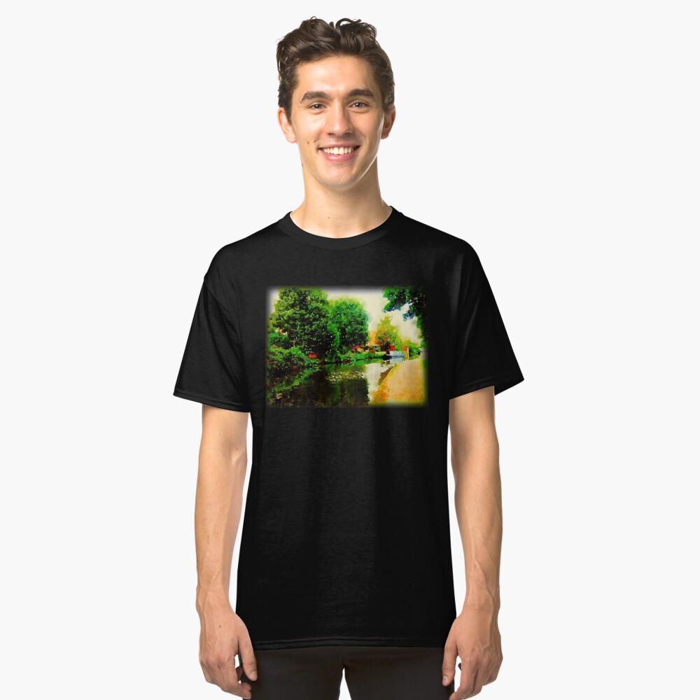 Along the canal...Nottingham in Watercolor Classic T-Shirt