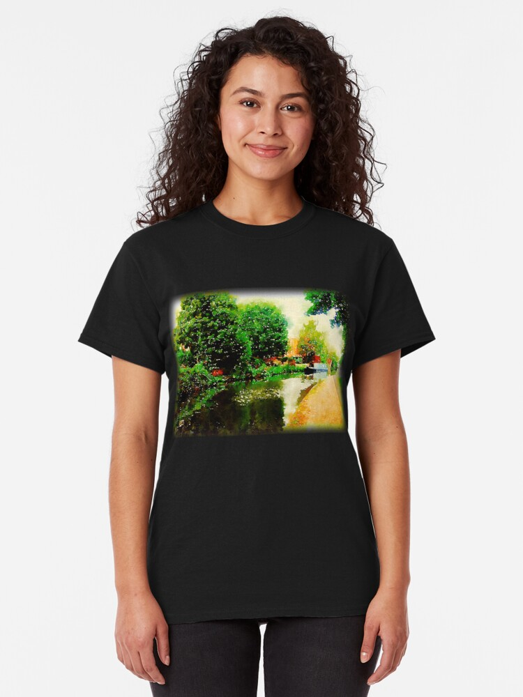 Alternate view of Along the canal...Nottingham in Watercolor Classic T-Shirt