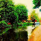 Along the canal...Nottingham in Watercolor by Douglas E.  Welch