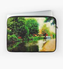 Along the canal...Nottingham in Watercolor Laptop Sleeve