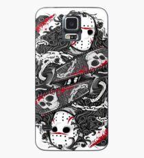 halloween shirt, Horror, Gray skull mask, Jason Voorhees, Freddy Krueger, Friday the 13th  Case/Skin for Samsung Galaxy