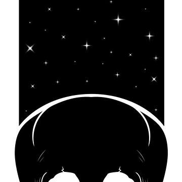 The Starchild (black & white) by RedTideCreative