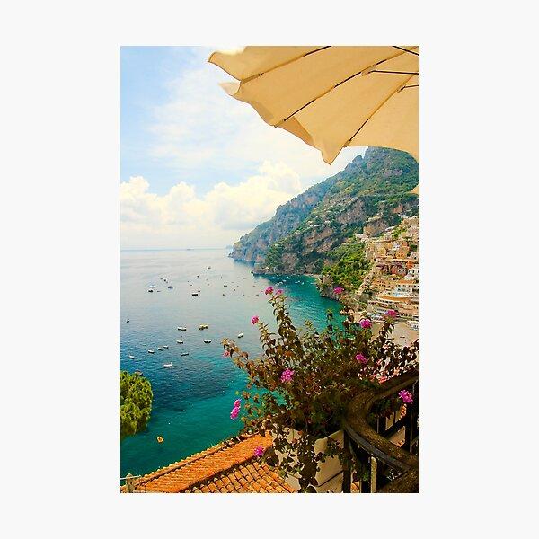 Relaxing in Positano Photographic Print