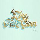 Null F * cks gegeben - Powder Blue & Gold Palette von Cat Coquillette