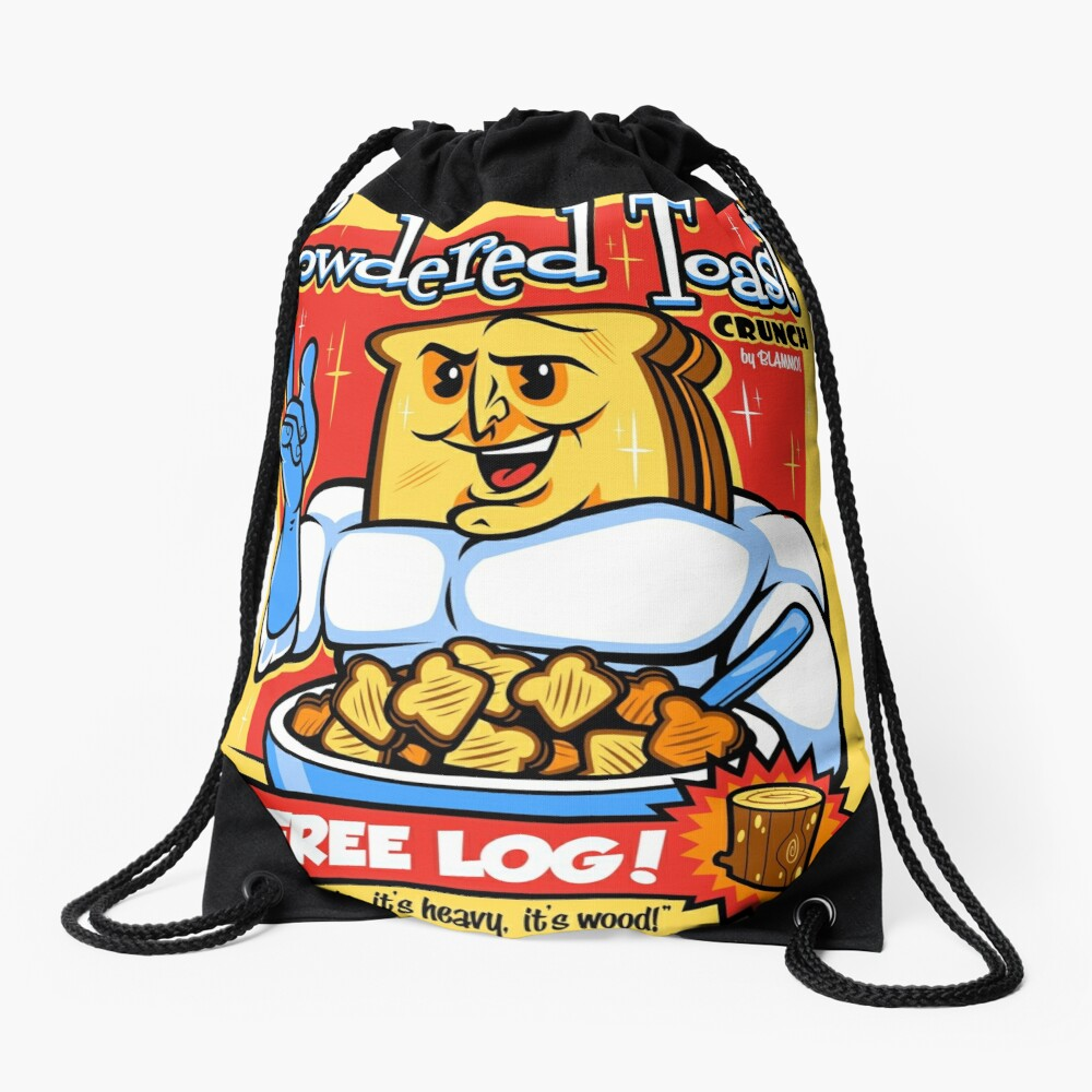 Powdered Toast Crunch Drawstring Bag