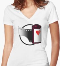 Love Film (or lose it?) Women's Fitted V-Neck T-Shirt