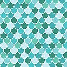 Teal Scalloped Scales by lisanorrisart
