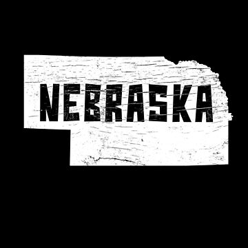 Nebraska Home Vintage Distressed Map Silhouette by YLGraphics
