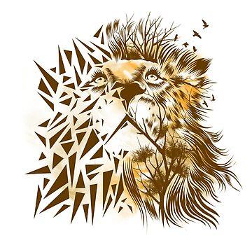 Geometric Lion by dandingeroz