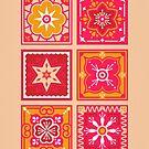 Talavera mexikanische Fliese - Pink & Orange Palette von Cat Coquillette