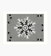 Gray Kaleidoscope Art 20 Art Print