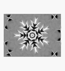 Gray Kaleidoscope Art 20 Photographic Print