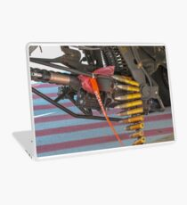 An Israeli Air force (IAF) exhibition. IAF Boeing Apache AH-64A (Peten) Helicopter on the ground. Close up of the armaments Laptop Skin