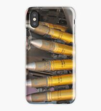 An Israeli Air force (IAF) exhibition. IAF Boeing Apache AH-64A (Peten) Helicopter on the ground. Close up of the armaments iPhone Case