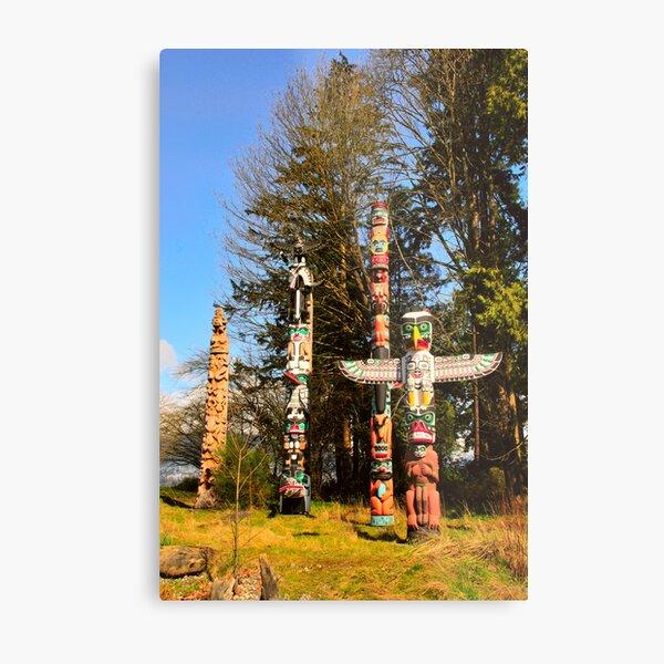 Totem Poles Metal Print