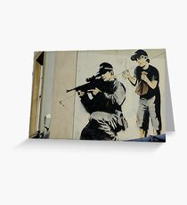 Banksy Sniper Greeting Card