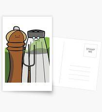 Salty Gardeners - American Gothic Postcards