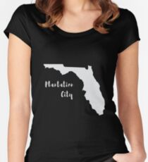 Plantation city Florida Women's Fitted Scoop T-Shirt