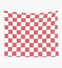 50's pink check Wall Tapestry