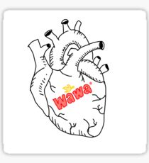 wawa in your heart. Sticker