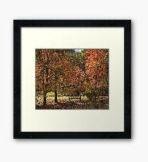 Fall landscape - pointilism Framed Print