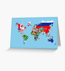 world flags map Greeting Card