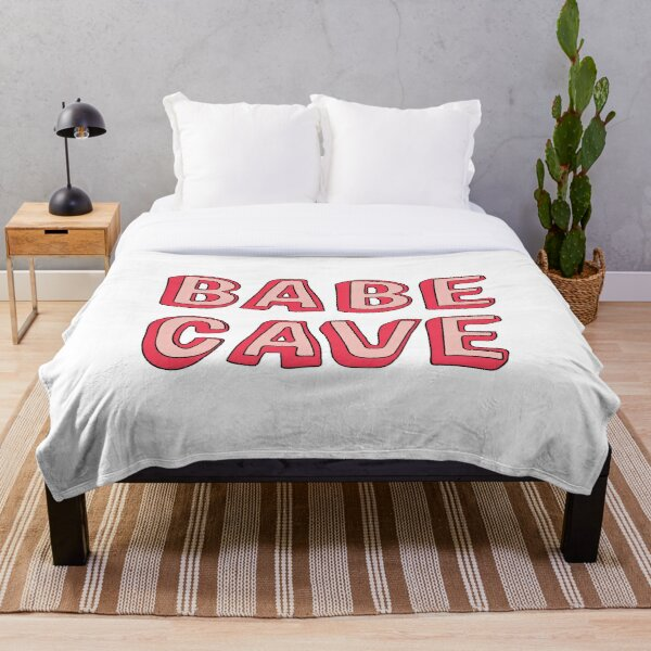 Babe Cave Throw Blanket