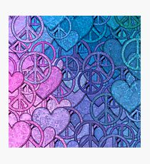 Peace and Love Collage Photographic Print