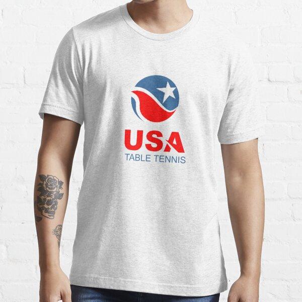 USA Table Tennis Design American Flag Ping Pong Design Essential T-Shirt