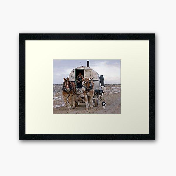Sheep Wagon, Red Desert, Wy Framed Art Print