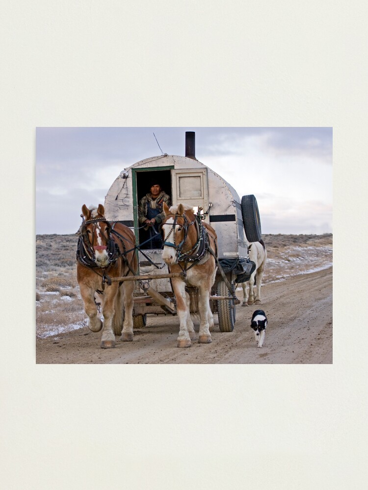 Alternate view of Sheep Wagon, Red Desert, Wy Photographic Print