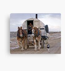 Sheep Wagon, Red Desert, Wy Canvas Print