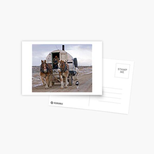 Sheep Wagon, Red Desert, Wy Postcard