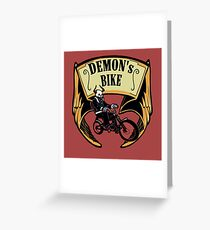 Demon's Bike Greeting Card