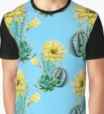 Awesome cactus texture (blue, green, yellow) Graphic T-Shirt