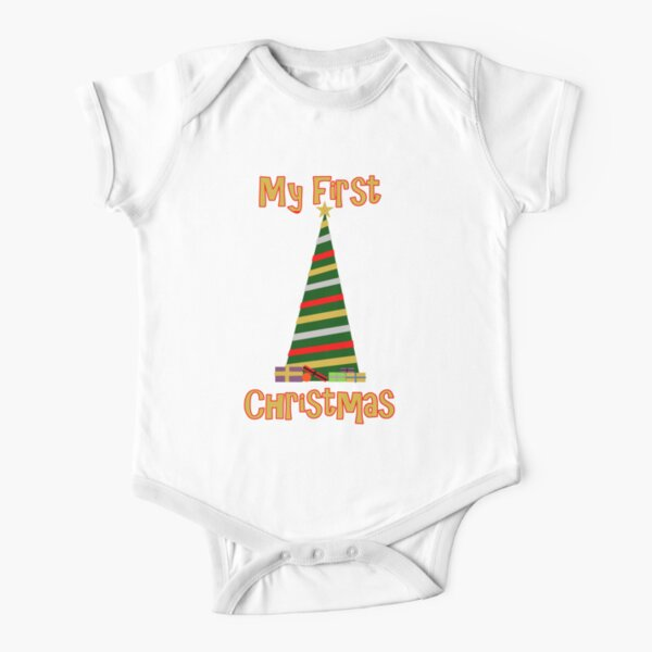 My First Christmas - Tree Short Sleeve Baby One-Piece