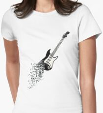 Flying Guitar Women's Fitted T-Shirt