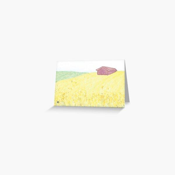 Rapeseed Fields  Greeting Card