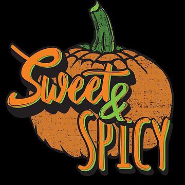 Distressed Halloween Pumpkin Sweet and Spicy  by shadowisper