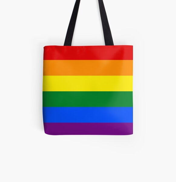 Stolz Regenbogenfahne Allover-Print Tote Bag