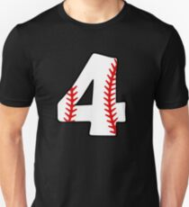 Number 4 Baseball #4 Slim Fit T-Shirt