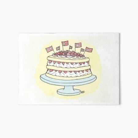 Birthday Layer Cake | Fødselsdag Lagkage Art Board Print