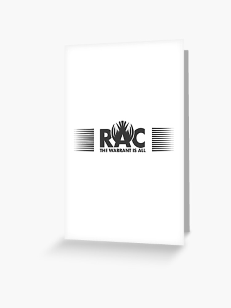 rac the warrant is all dark inspired by killjoys greeting